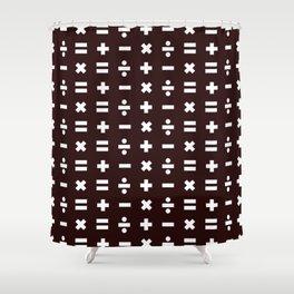 Math Pattern Shower Curtain