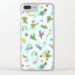 Funny Birds Clear iPhone Case