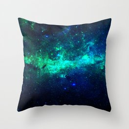 Bright Nebula Throw Pillow
