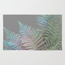 Rainbow Fern on Grey #decor #buyart #foliage Rug