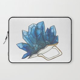 Blue Broken Teacup Geode Laptop Sleeve