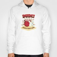 the dude Hoodies featuring Dude! by Stationjack