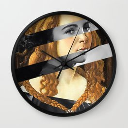 "Sandro Bottiecelli's Venus from ""Venus and Mars"" & Liz Taylor Wall Clock"
