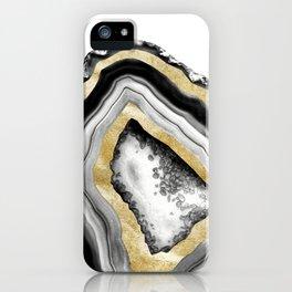 Agate Gold Foil Glam #1 #gem #decor #art #society6 iPhone Case