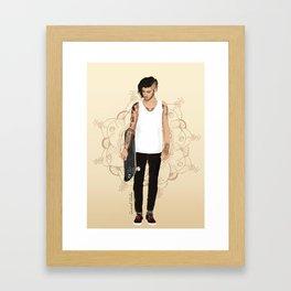 Skater Zayn  Framed Art Print