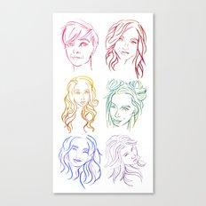 Rainbow Minimal Portraits Canvas Print