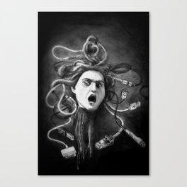 Overconnected Medusa Canvas Print