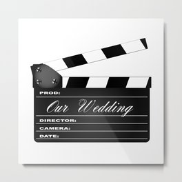 Our Wedding Clapperboard Metal Print