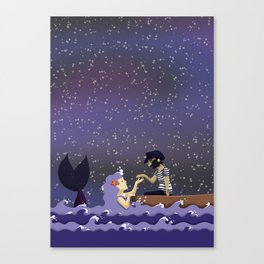 The sailor and the mermaid Canvas Print