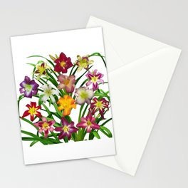 Display of daylilies II Stationery Cards