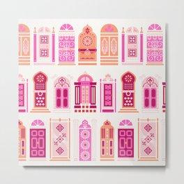 Moroccan Doors – Peach Palette Metal Print