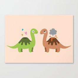 Volcanosaurus Canvas Print