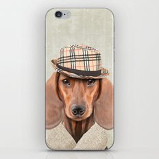 The stylish Mr Dachshund iPhone & iPod Skin