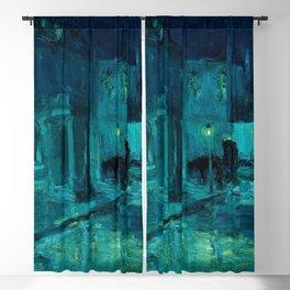 African American Masterpiece 'Rainy Night' by William Edouard Scott Blackout Curtain