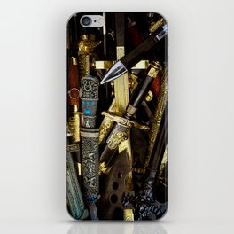 Collage - Daggers, Dirks and Sabres iPhone Skin