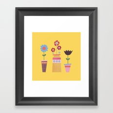 Beautiful Plant Pots Framed Art Print