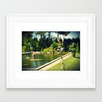 lonely Framed Art Prints featuring lonely by Mojca G. Vesel