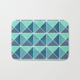 GEO STUD GRID - BLUE Bath Mat