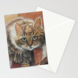 Cat Art - Cute Cat looking at you Stationery Cards
