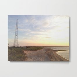 Alien Landscape at the Edge of the World Metal Print