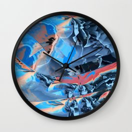 The edge of blue mystery Wall Clock