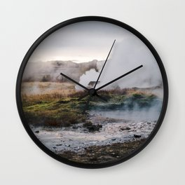 Golden Geysirs Wall Clock