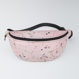 Blush and gold marble terrazzo design Fanny Pack