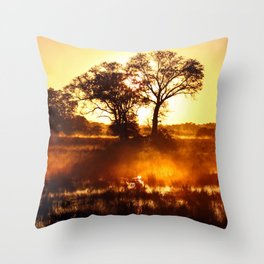 Morning in Africa Throw Pillow