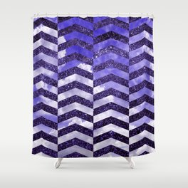 Cloudly Starry Sky -Purple Shower Curtain