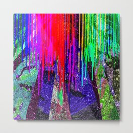Paint Drops on Glitter 1 Metal Print