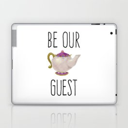 Be our Guest Hand painted teapot hand print Laptop & iPad Skin
