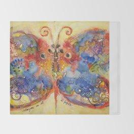 Astrazioni su ali di farfalla Throw Blanket