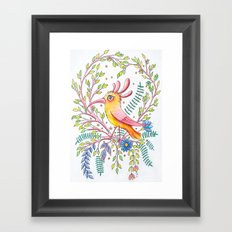 serious bird Framed Art Print