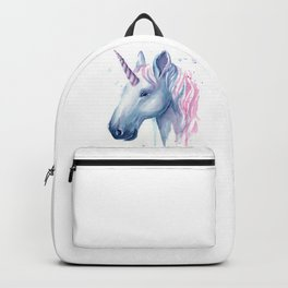 Blue Pink Unicorn Backpack