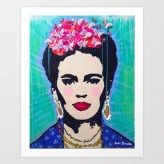 Frida Kahlo by Paola Gonzalez Art Print