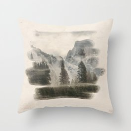 Distant Mountains Throw Pillow