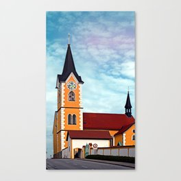 The village church of Herzogsdorf I   architectural photography Canvas Print