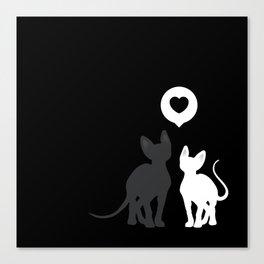 Dark love Canvas Print
