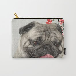 Dog printable picture,fashion dog print,dog pink bow tie,girly wall decor,animal wall hanging Carry-All Pouch
