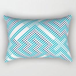 Artis 1.0, No.27 in Warm Blue Rectangular Pillow