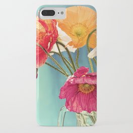 Bright Dancers - Vintage toned poppy flower still life iPhone Case
