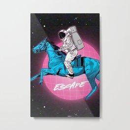 Retro Space Escapade Metal Print