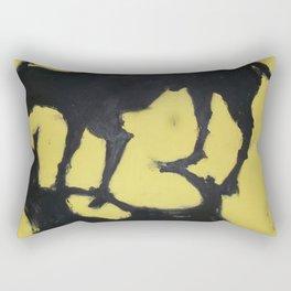 Shadow - Black & Yellow Rectangular Pillow