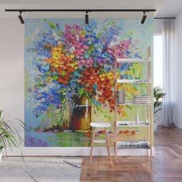 Bouquet of wild flowers Wall Mural