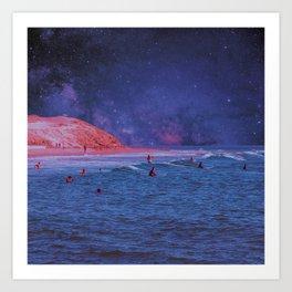 Surf Town Art Print