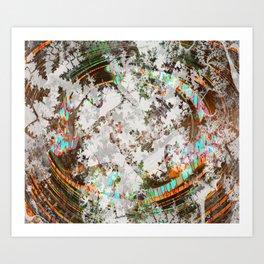 circled partitions Art Print