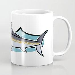 Cute ocean marlin cartoon illustration motif set. Coffee Mug