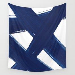 Indigo Abstract Brush Strokes | No. 3 Wall Tapestry