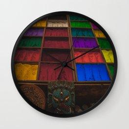 The Colors of Kathmandu City 02 Wall Clock
