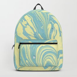 Marble of Yellow & Green Backpack
